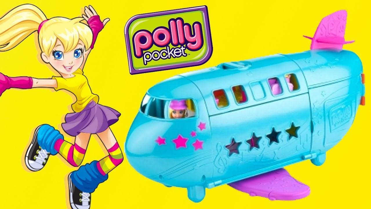 Aviao Da Polly Pocket Com Novelinha Completo Em Portugues