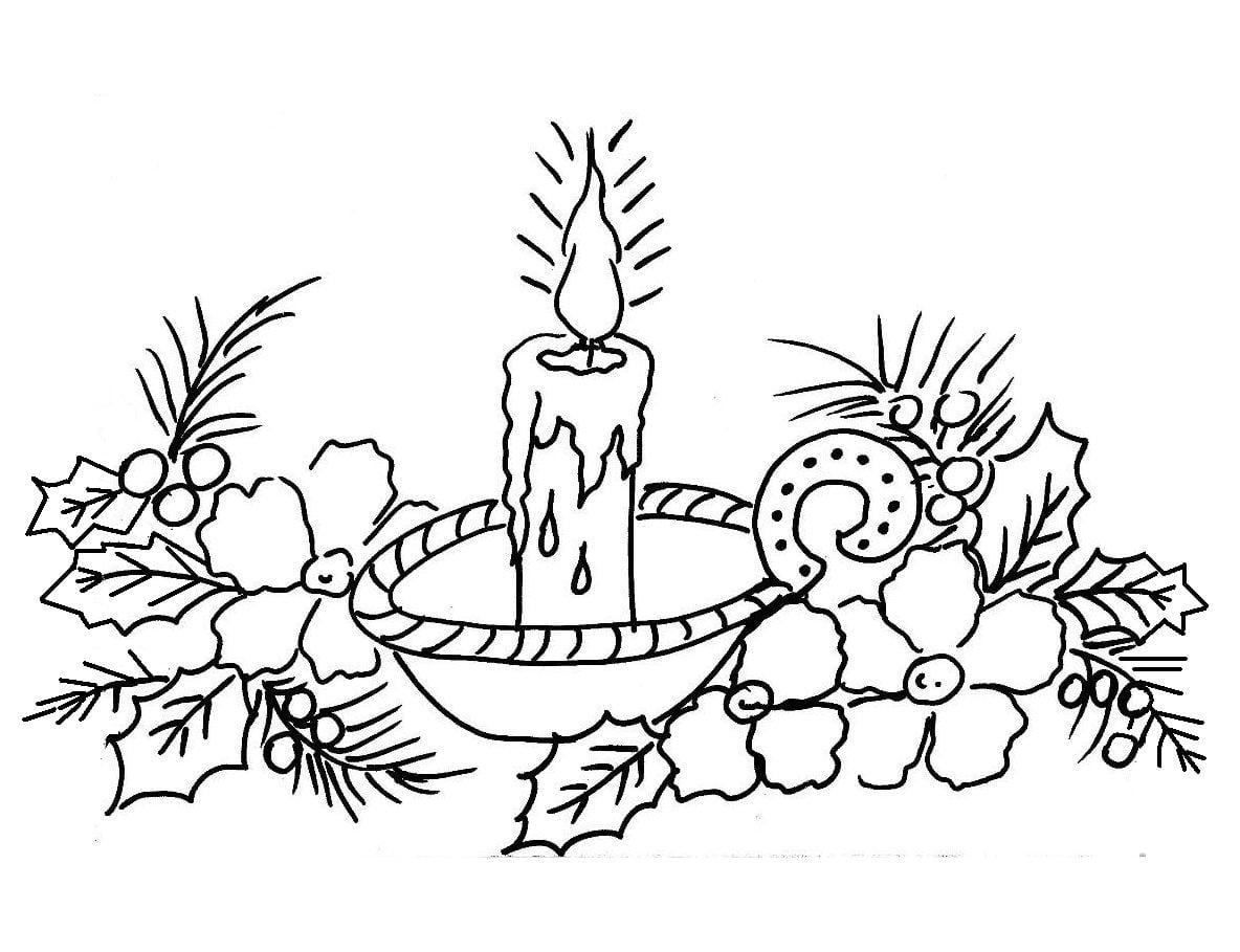Desenho De Vela De Natal