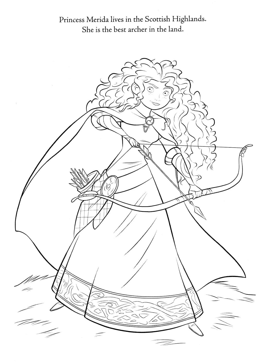 De Colorir!  Valente  Princesa Merida
