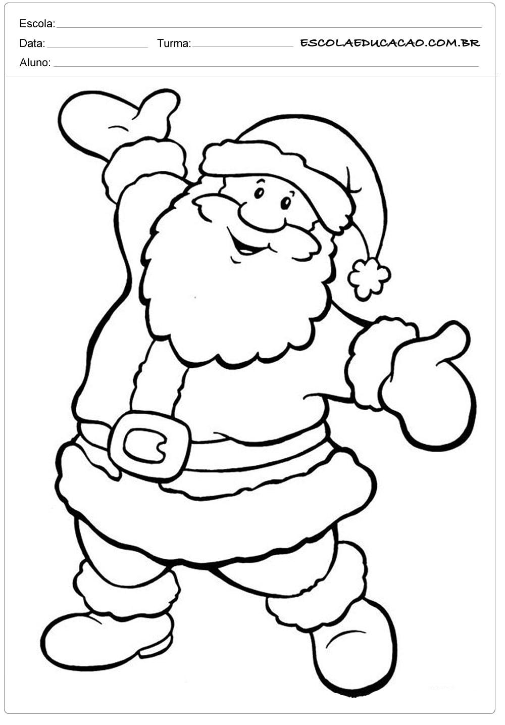 Papai Noel Para Pintar