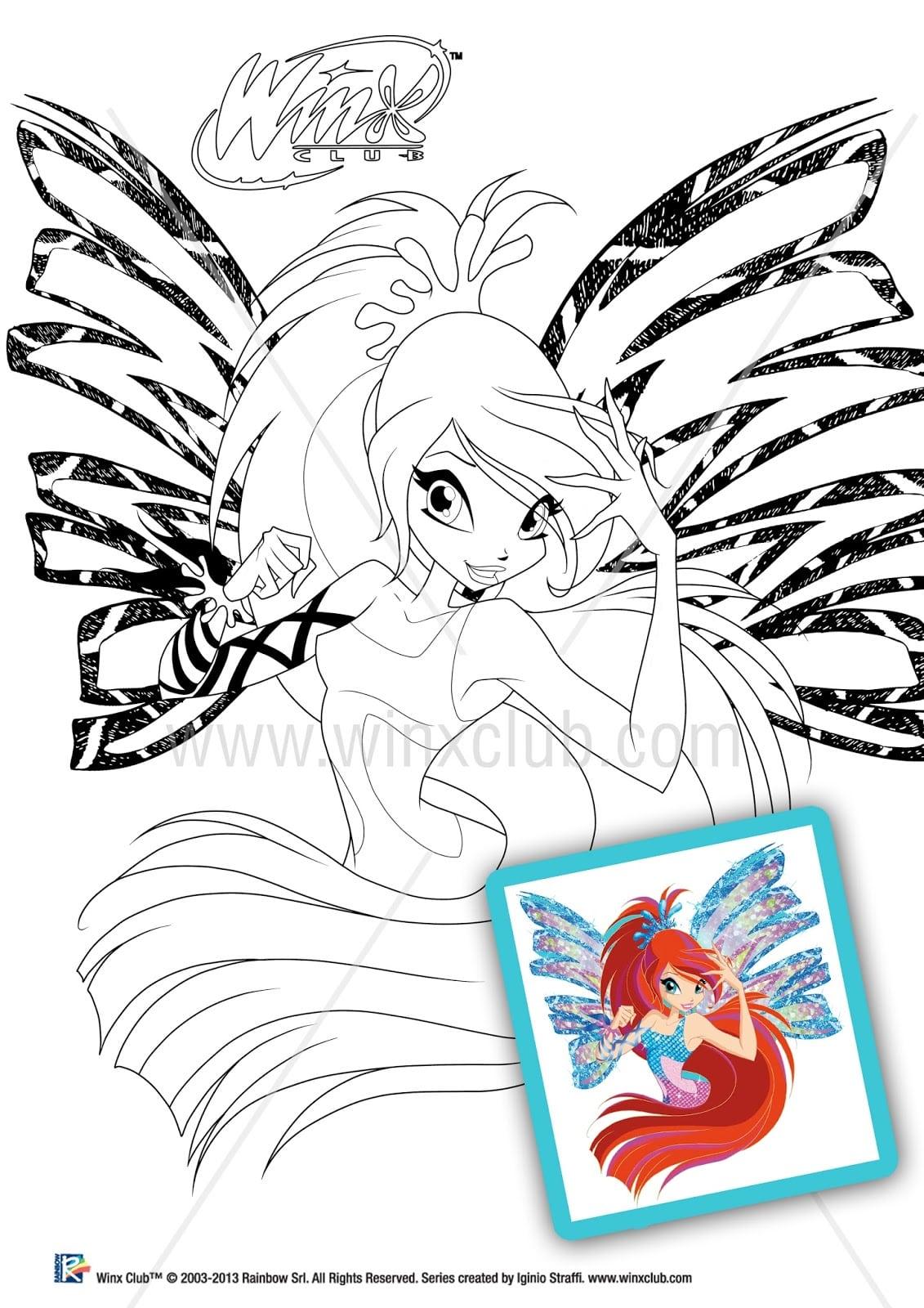 Winx Sirenix  Imagens Para Colorir