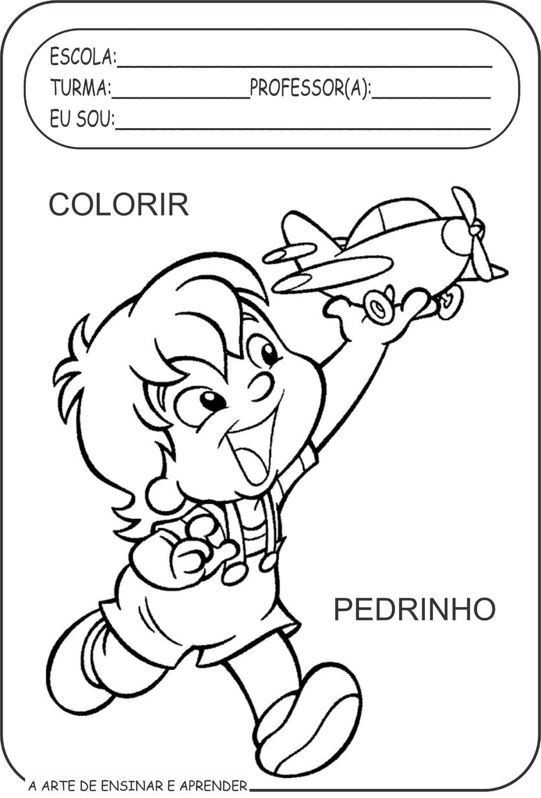 Atividades Colorir Personagens De Monteiro Lobato Para A Semana Do