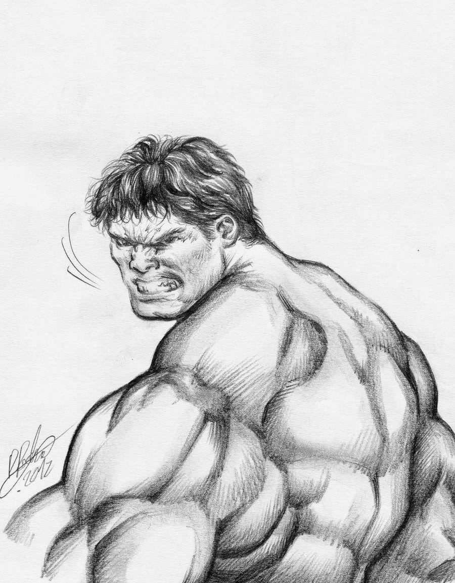 desenhos para pintar do hulk