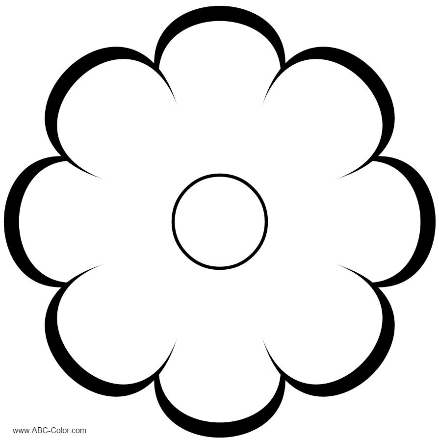 Квітка восьми пелюсткова розмальовка