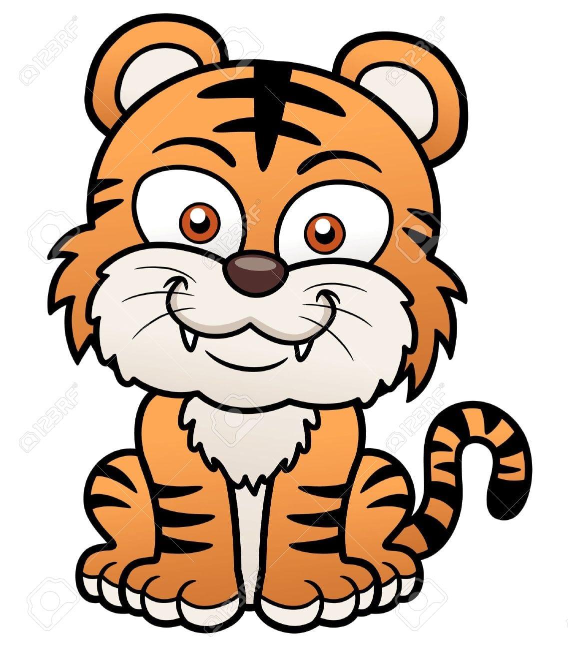 Ilustração Do Vetor Do Tigre Dos Desenhos Animados Royalty Free