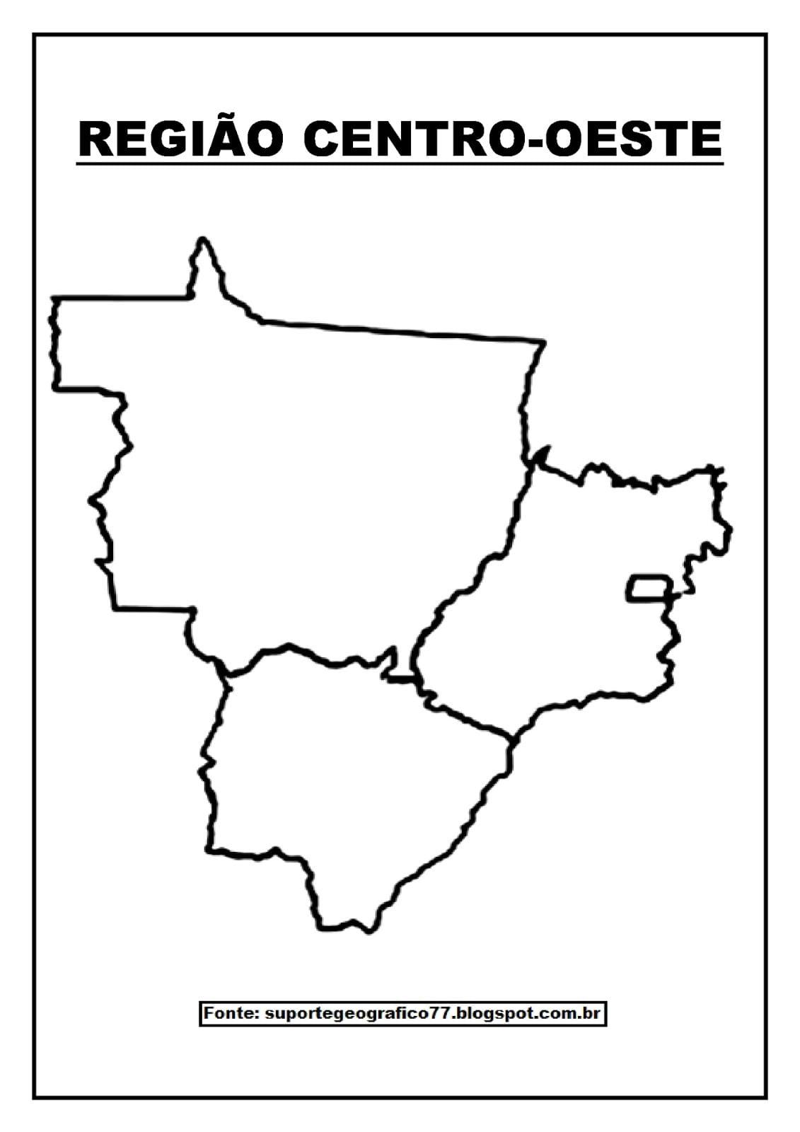 Suporte GeogrÁfico  RegiÕes Brasileiras Para Colorir