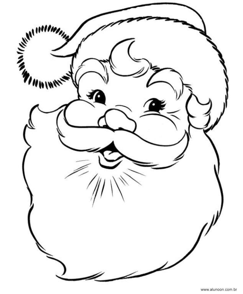 37 Desenhos Do Papai Noel Para Colorir