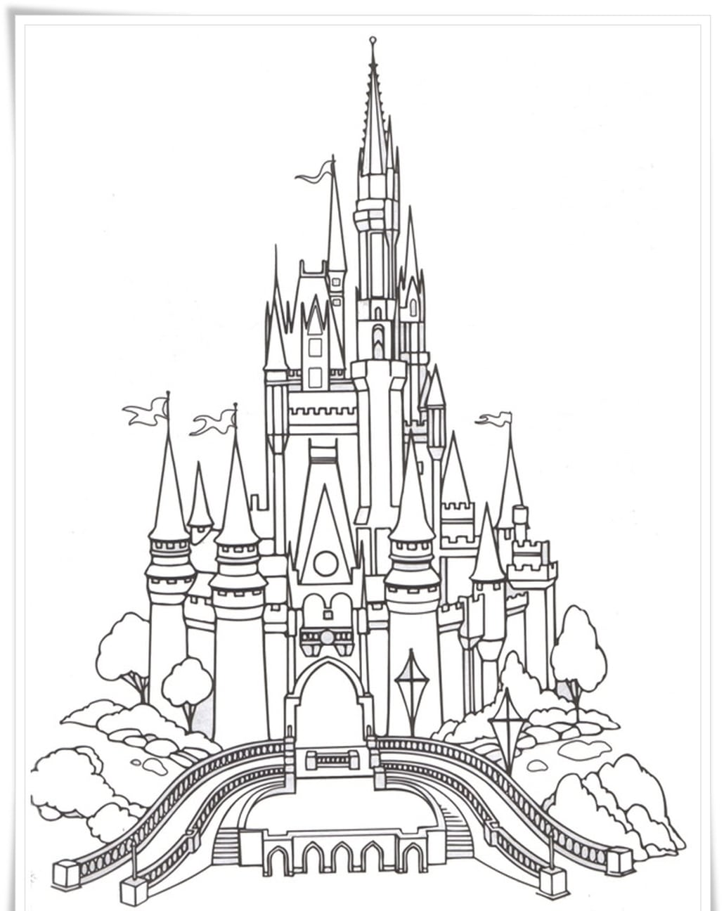 Disney Castle Coloring Pages For Adults
