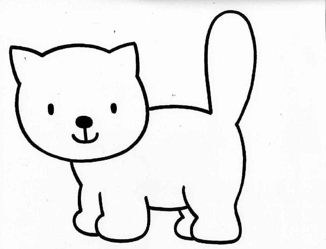 Desenho Para Colorir Gatinho