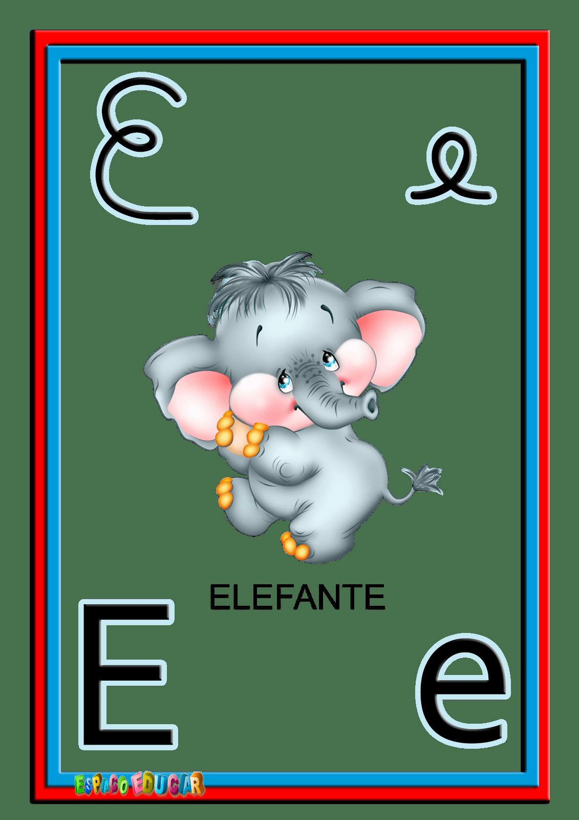 Alfabeto Ilustrado Colorido Cartazes De Parede  Alfabetização