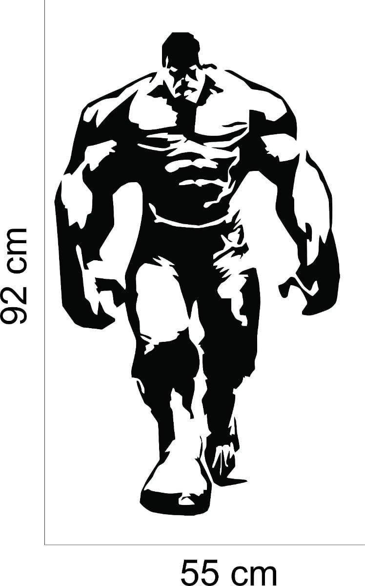 Adesivo Parede Quarto Infantil Herói Incrível Hulk Desenho