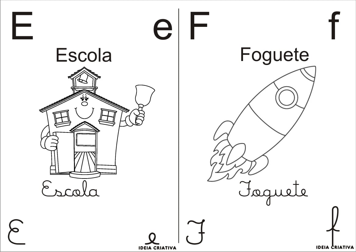 Alfabetos Ideia Criativa  Alfabeto Para Colorir 4 Tipos De Letra