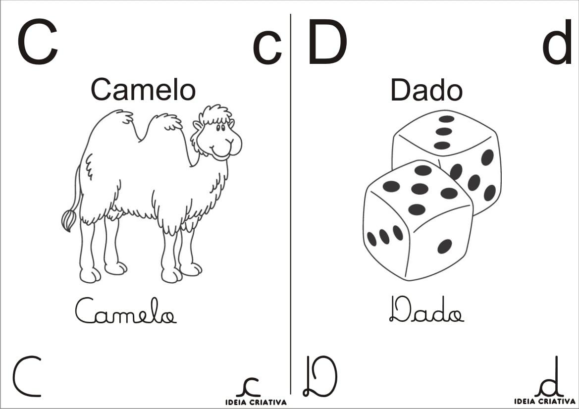 Companheiros Da Educação  Alfabeto Para Colorir
