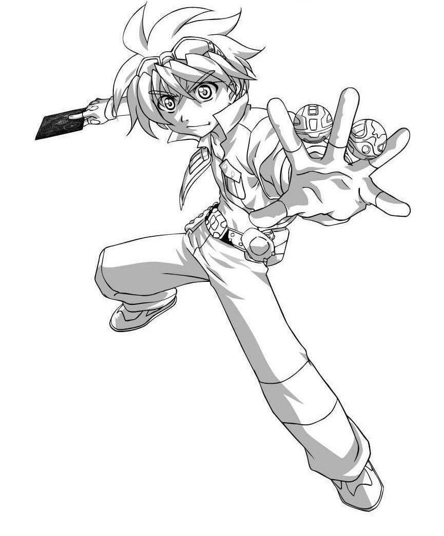 Desenhos Do Bakugan Para Imprimir