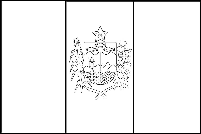 Desenho Da Bandeira Do Alagoas Para Colorir