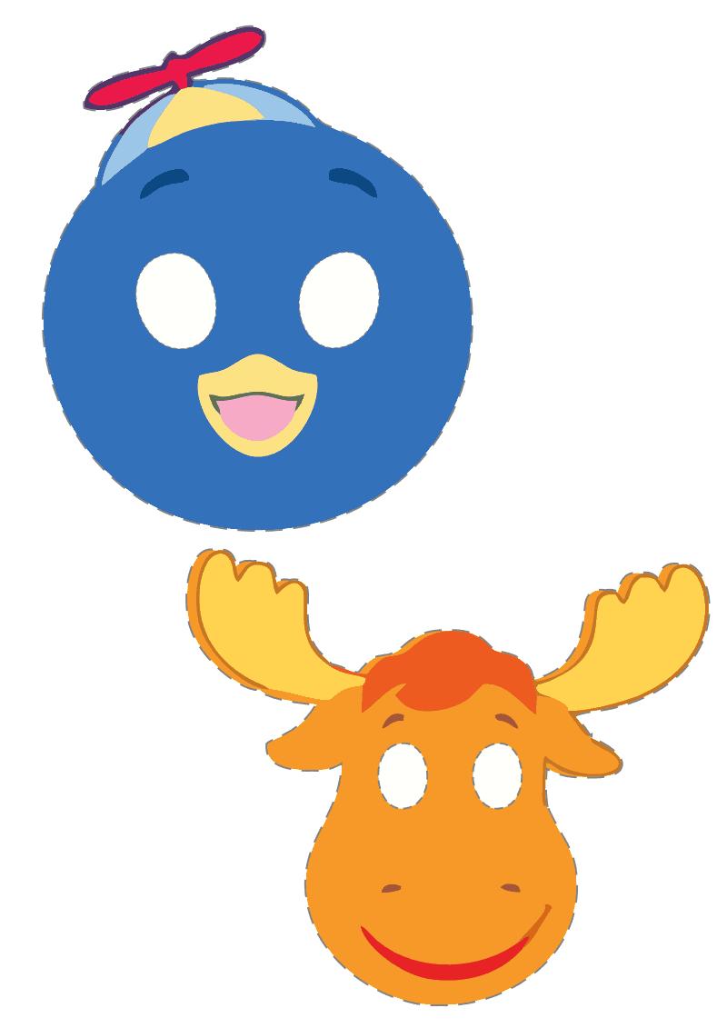 Máscaras Para Festa Da Peppa Pig E Backyardigans Para Imprimir