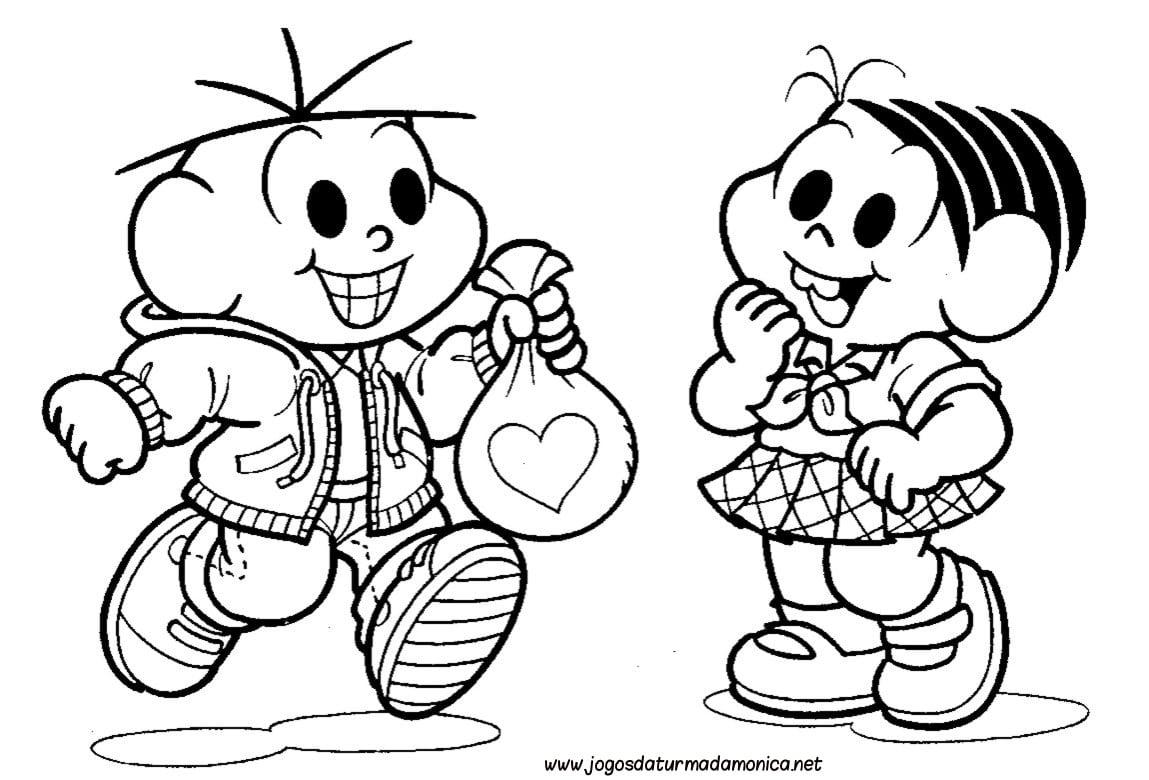 Bibi Leitura Desenhos Para Colorir Turma Da Monica !!! – Pampekids Net