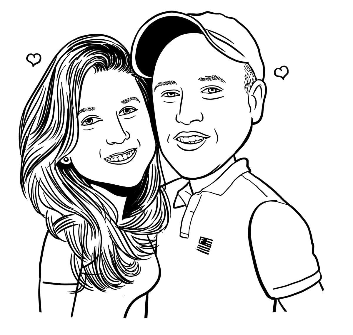 Caricatura Namorados