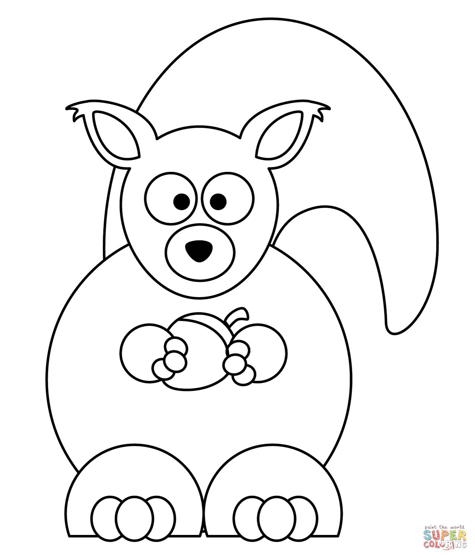 Desenhos De Esquilos Para Colorir