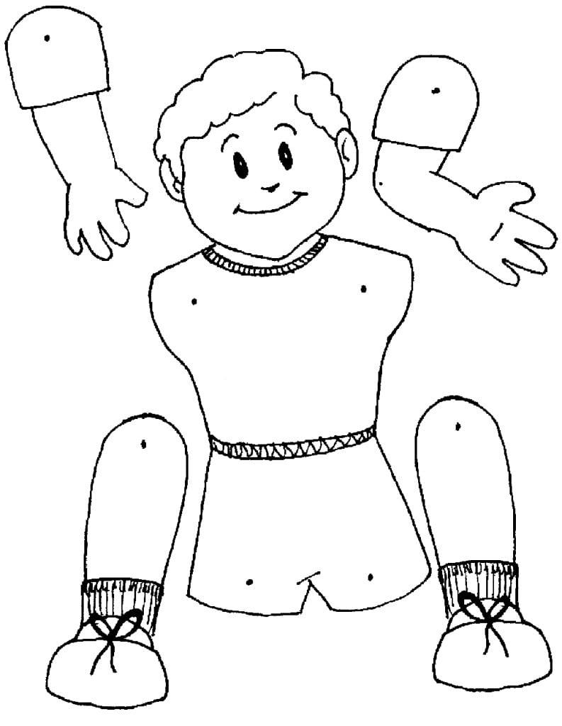 Desenho De Como Fazer Boneco Flexível Para Colorir