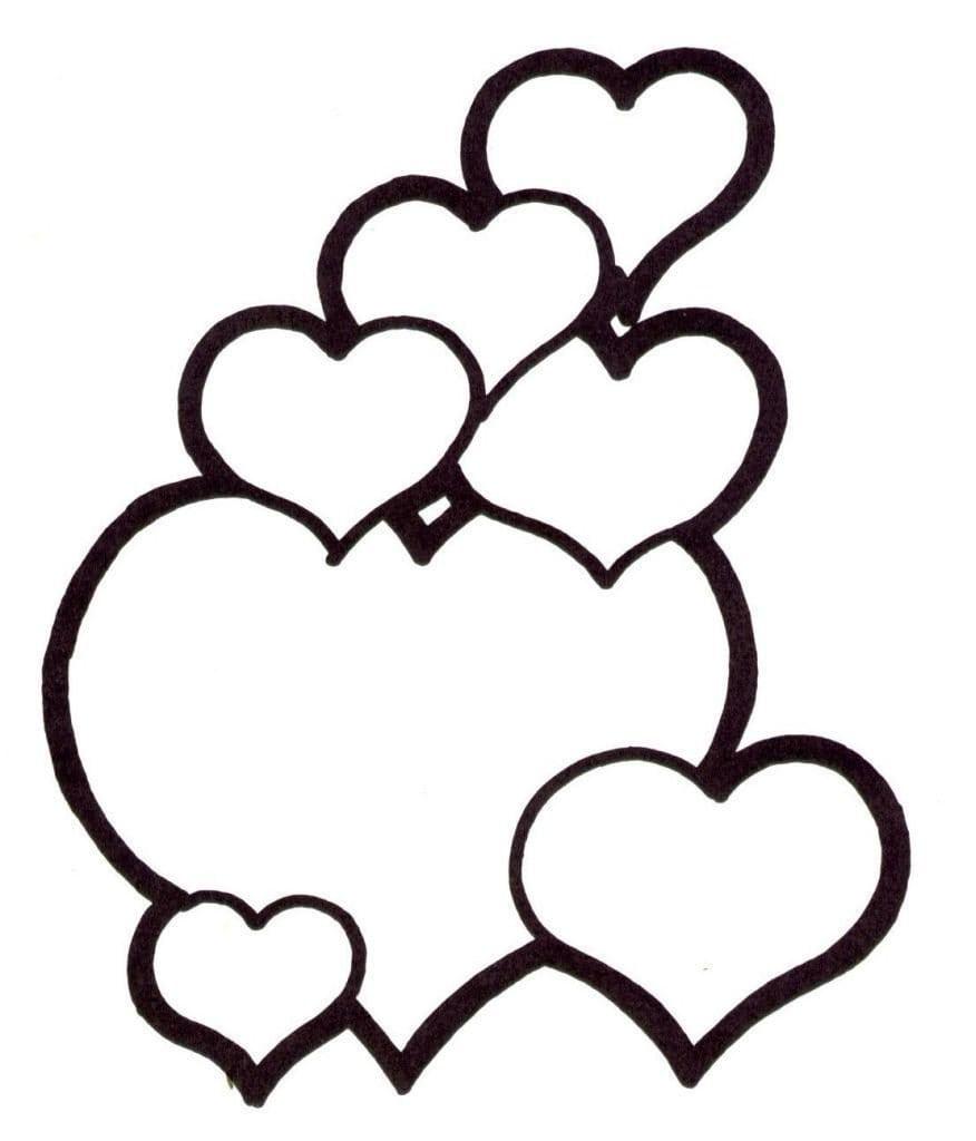 Desenhos Para Pintar De Corações  Desenhos Para Colorir De Corações