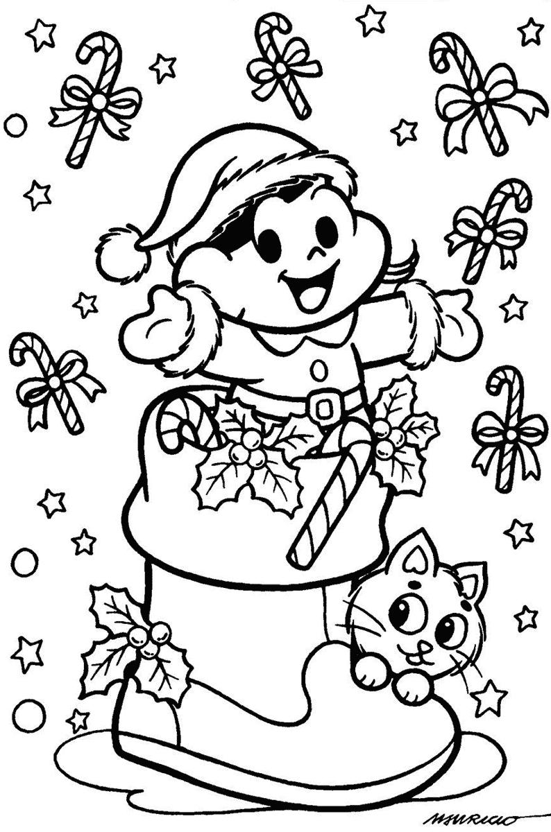 Desenho Da Magali Celebrando O Natal — Colorir Org