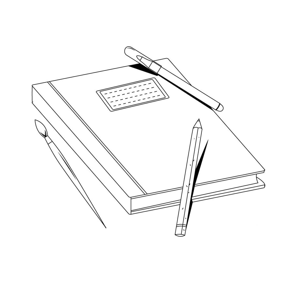 Desenho De Caderno Para Colorir – Pampekids Net