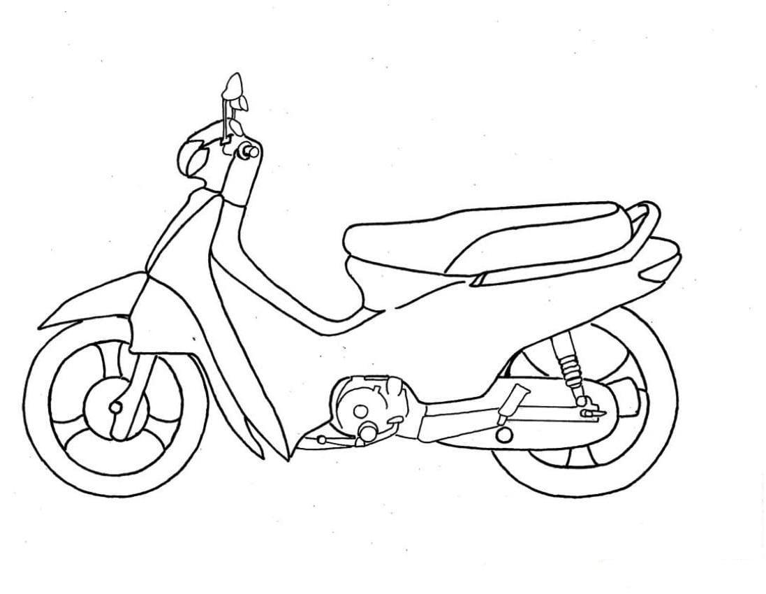 Desenho De Moto Para Colorir – Pampekids Net