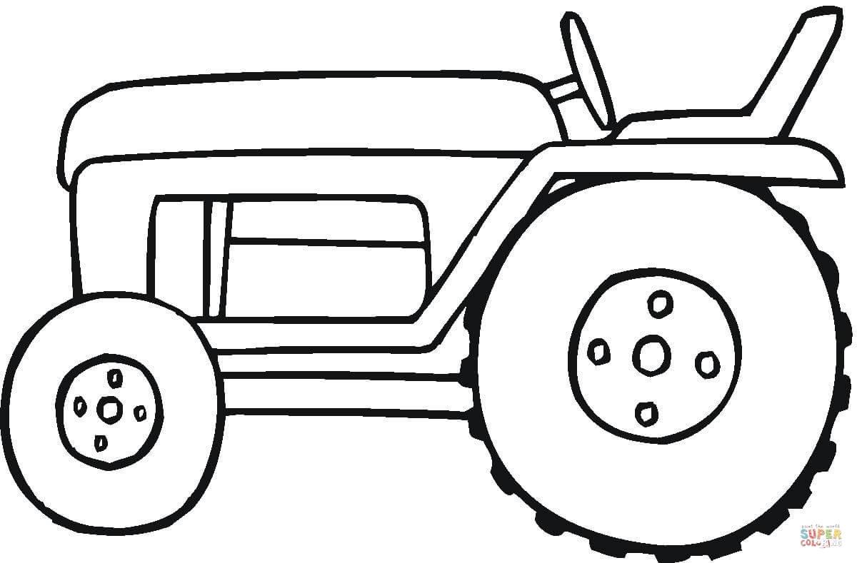 Desenho De Trator Pequeno Para Colorir – Pampekids Net