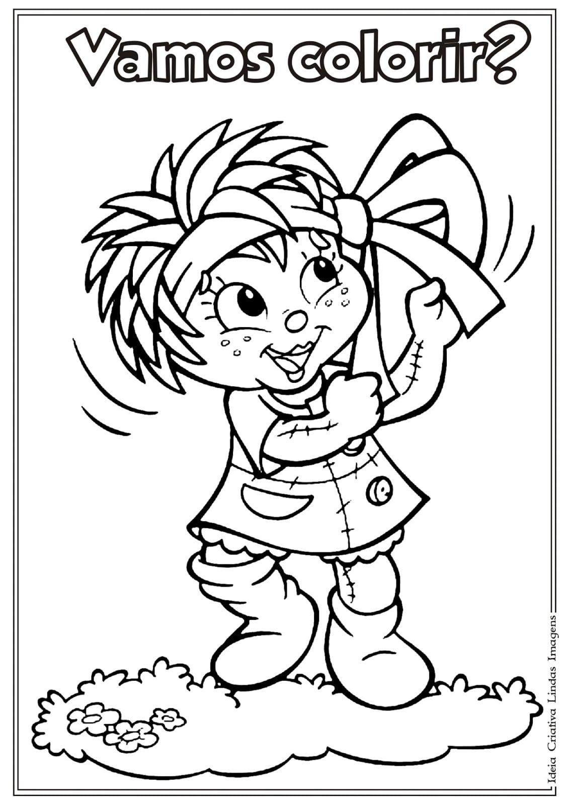 Desenho Do Sítio Do Picapau Amarelo, Dia Do Livro Infantil Para