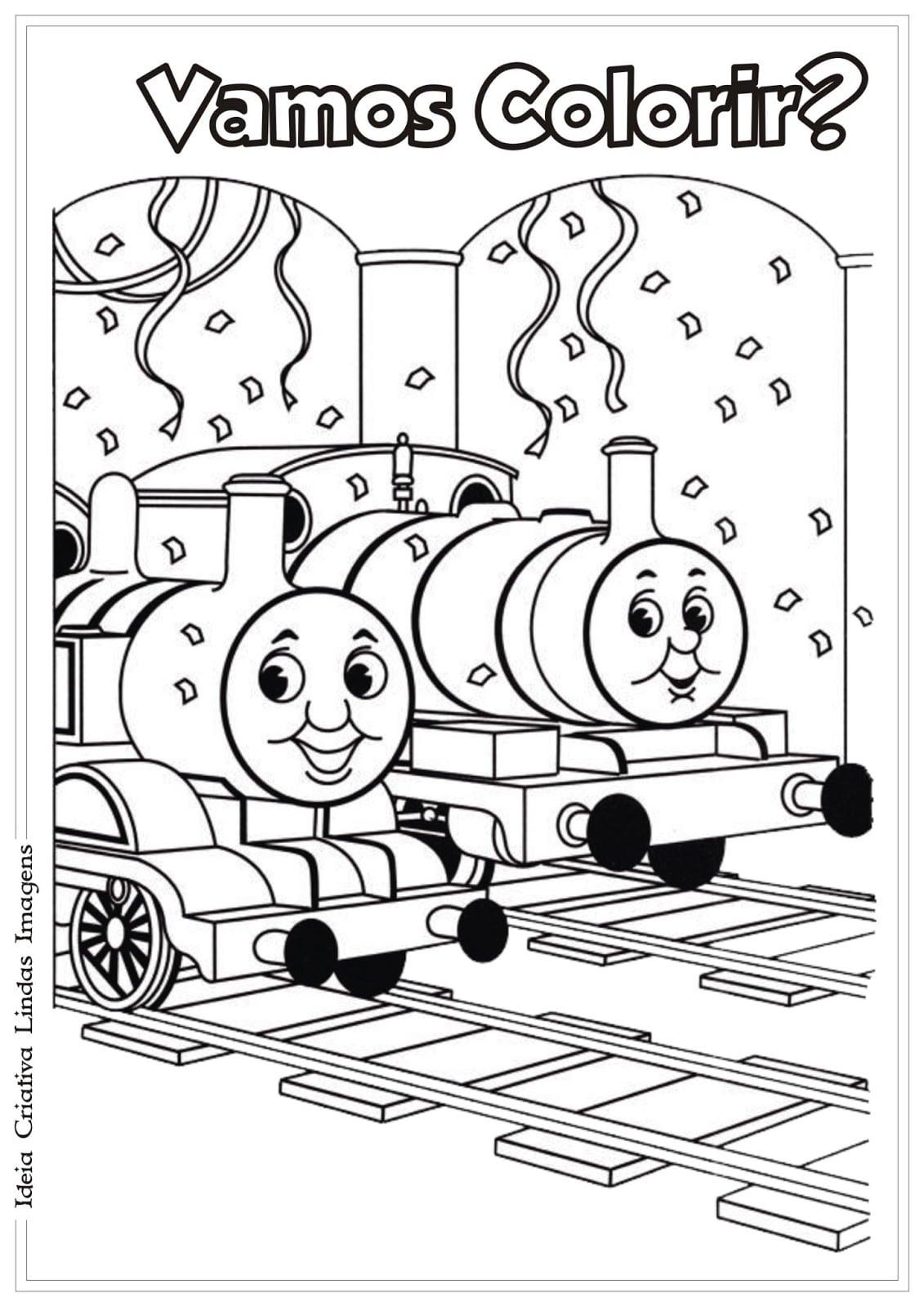 Thomas E Seus Amigos Pra Colorir