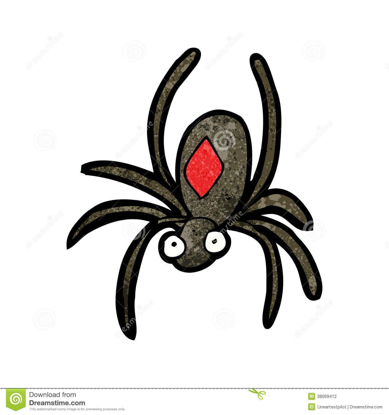 Desenhos Animados Da Aranha Da Viúva Negra Ilustração Do Vetor