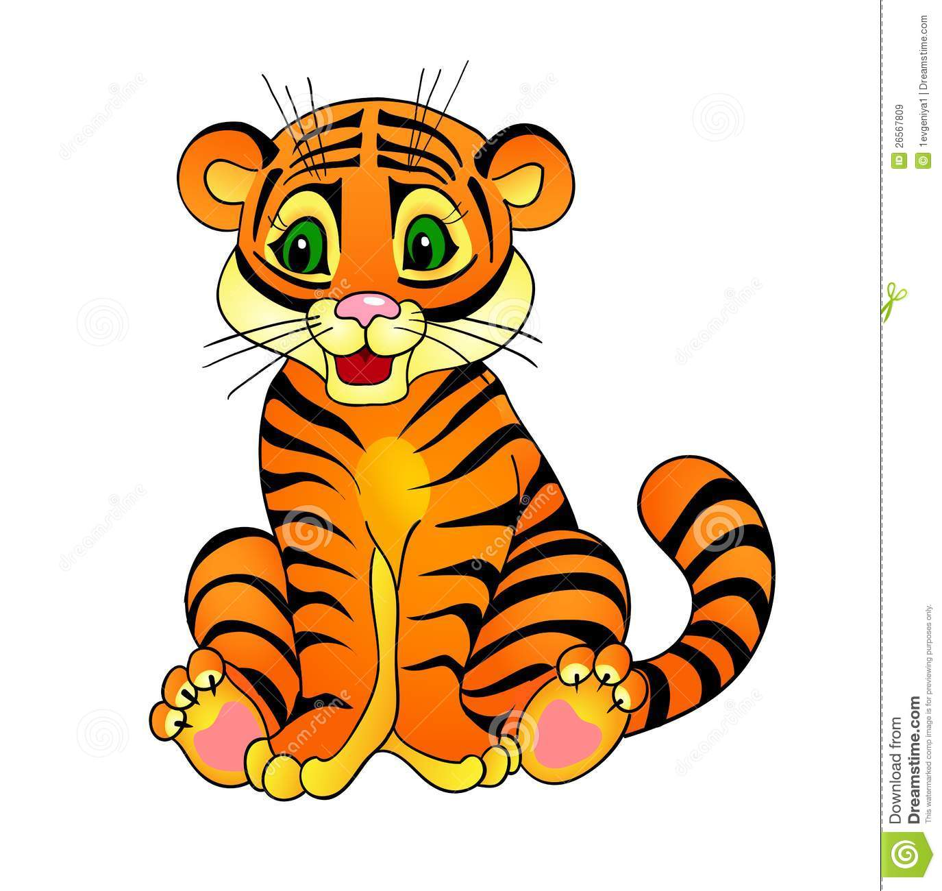 Desenhos Animados Do Tigre Ilustração Do Vetor  Imagem De Cheerful