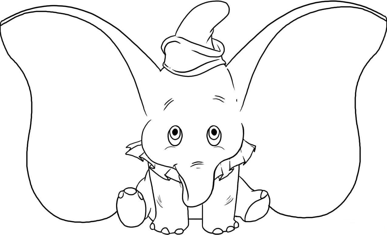 Desenhos Para Colorir Do Dumbo  Desenhoswiki Com