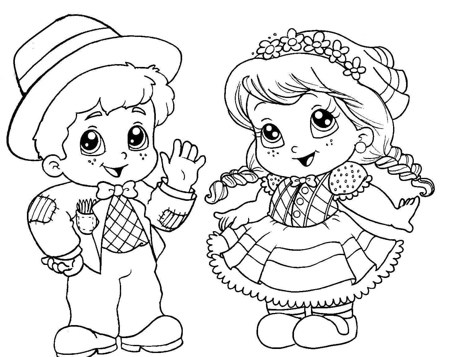 Desenhos De Bonecos Para Colorir – Pampekids Net