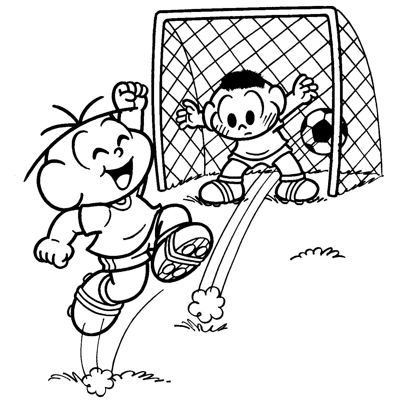 Desenho Para Colorir De Futebol – Pampekids Net