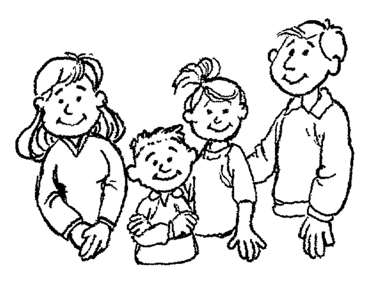 Desenhos Para Colorir Da Família – Imagens Para Imprimir