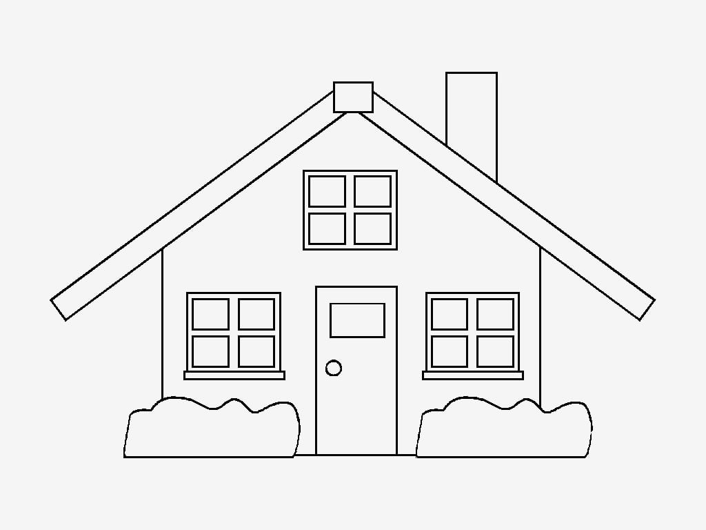 Desenho De Casas Para Pintar