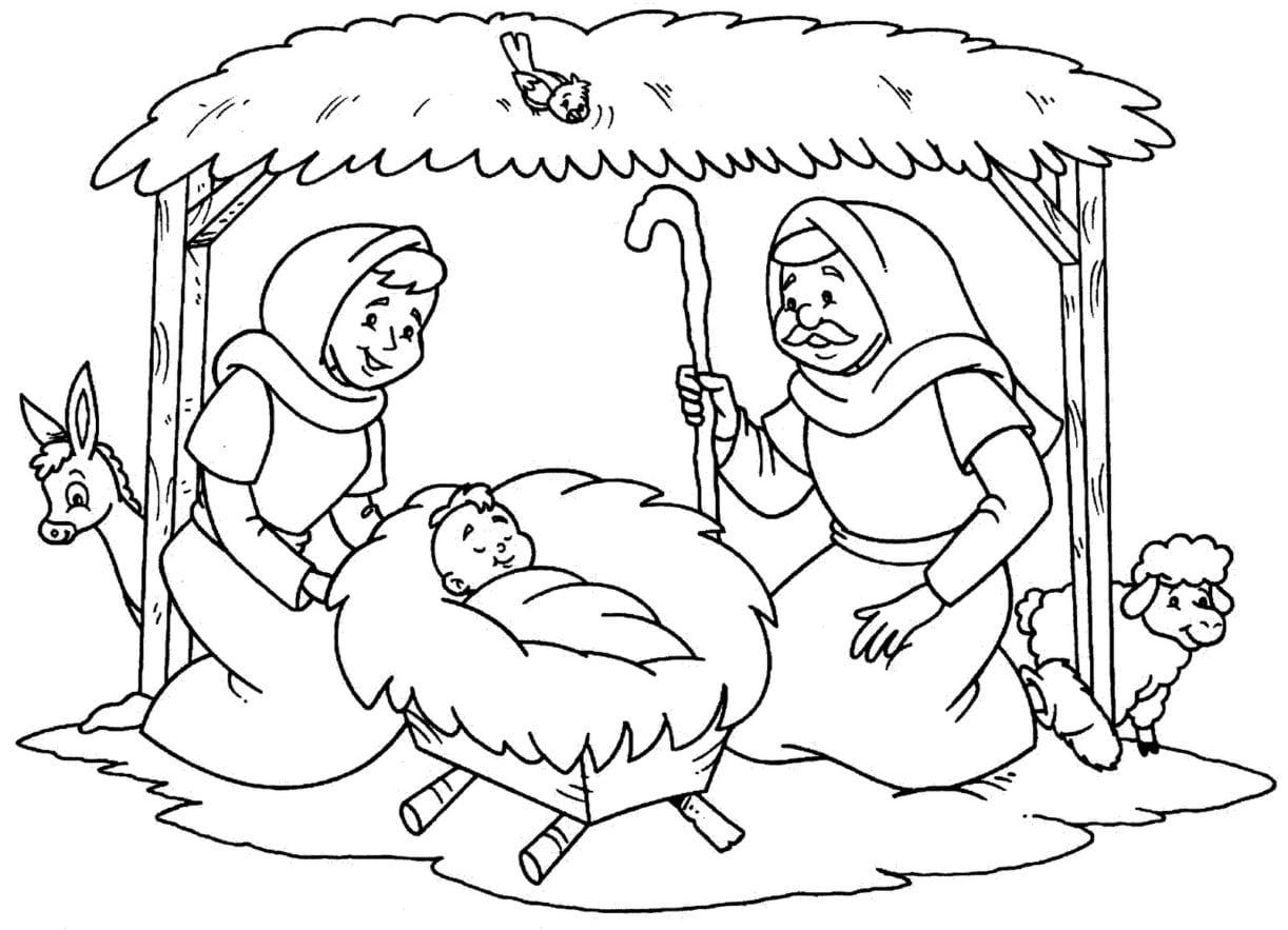 Confira Os Melhores Desenhos Do Nascimento De Jesus Para Colorir E