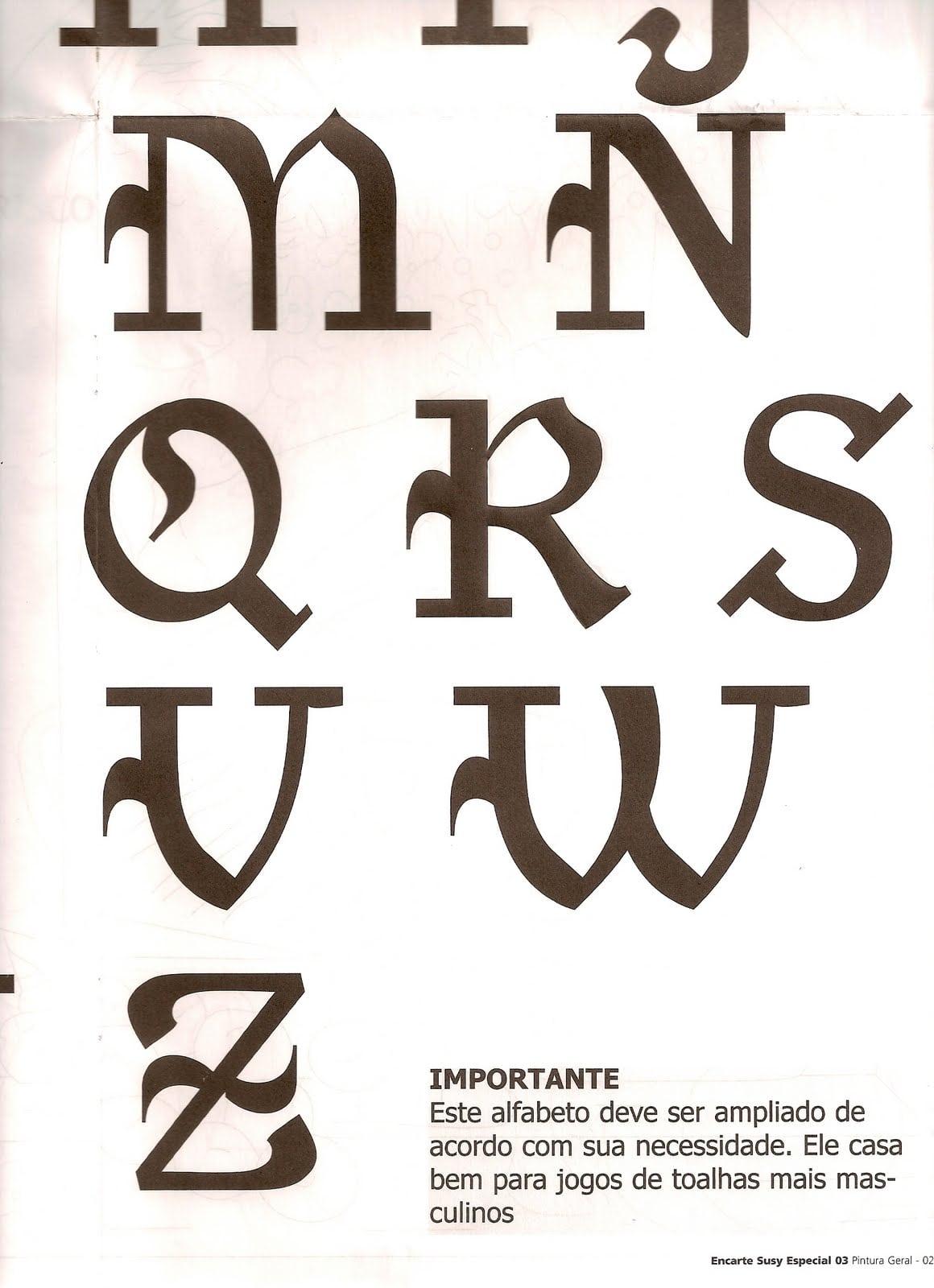 Alfabeto Para Pintar Em Tecido