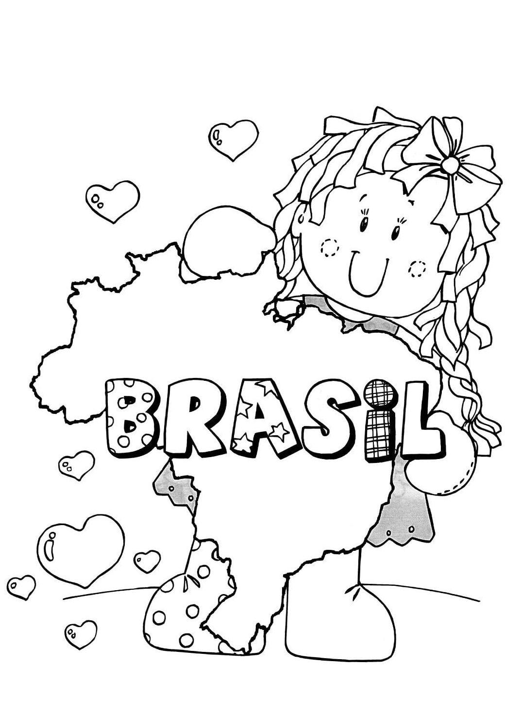 Desenho Bandeira Do Brasil Para Colorir