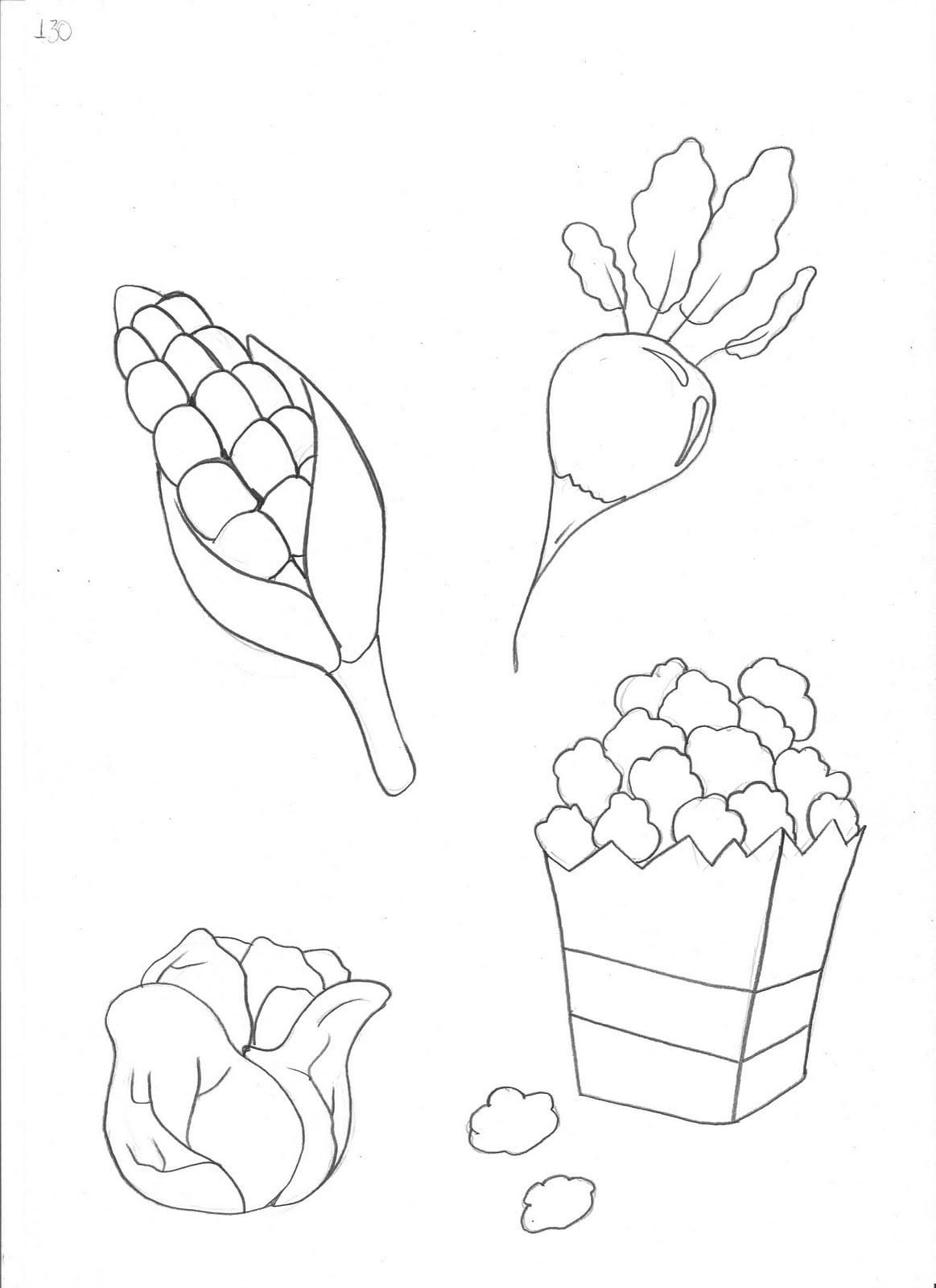 Desenhos De Pipoca Para Colorir