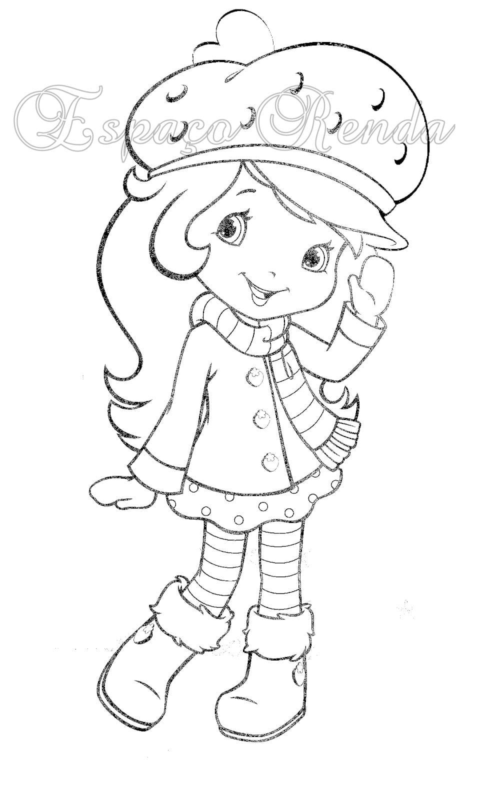 desenhos para colorir e imprimir da moranguinha