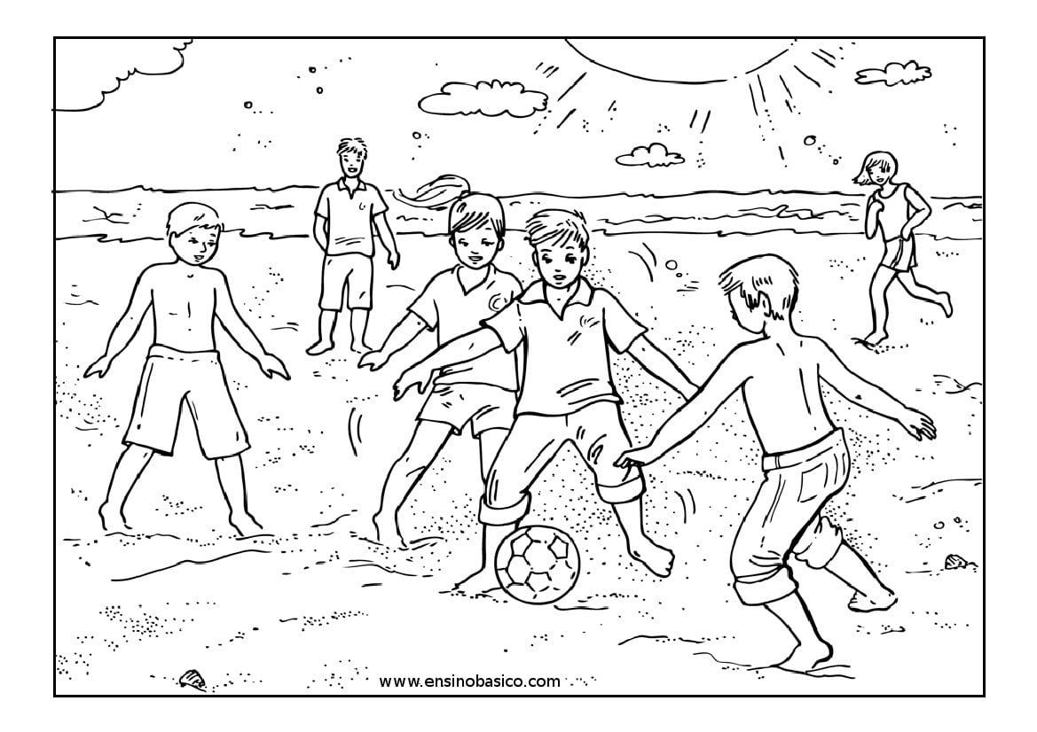 Imagens De Futebol Para Colorir