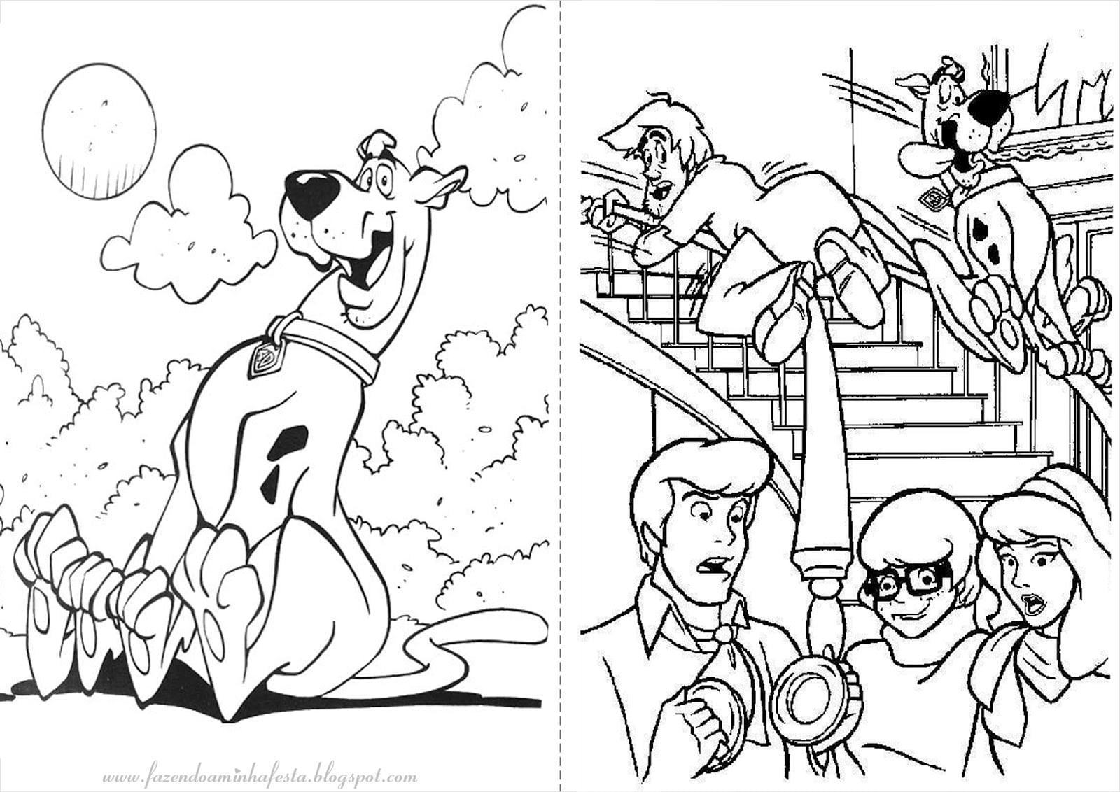 Scooby Doo Para Colorir