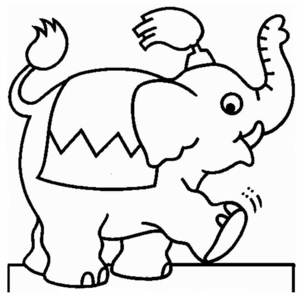 Desenhos Para Pintar Desenho De Elefante Para Colorir Online