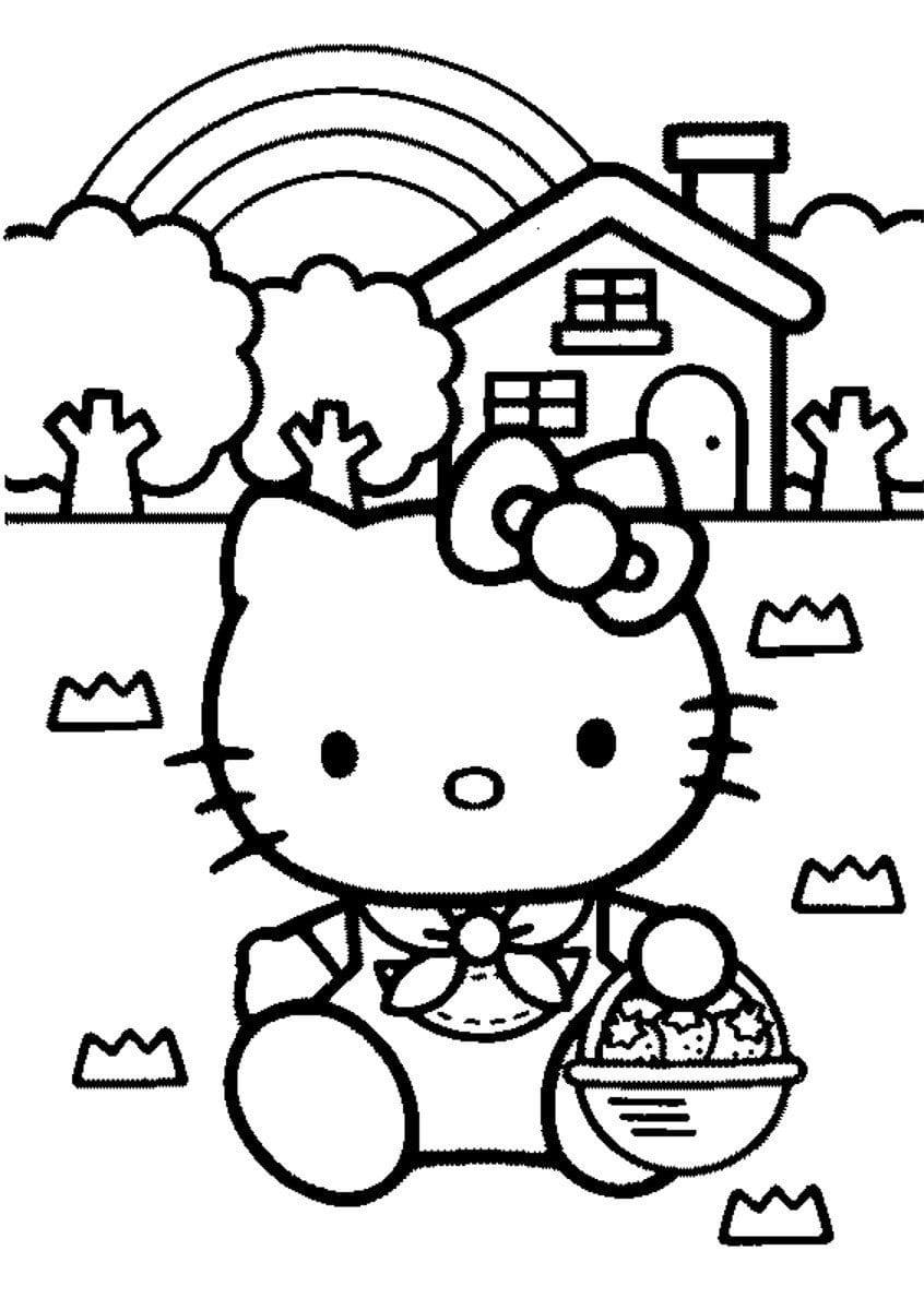 Desenho Para Colorir Da Hello Kitty
