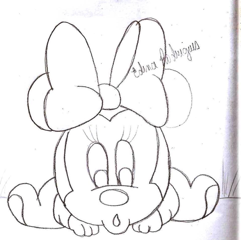 Desenho Minnie Baby