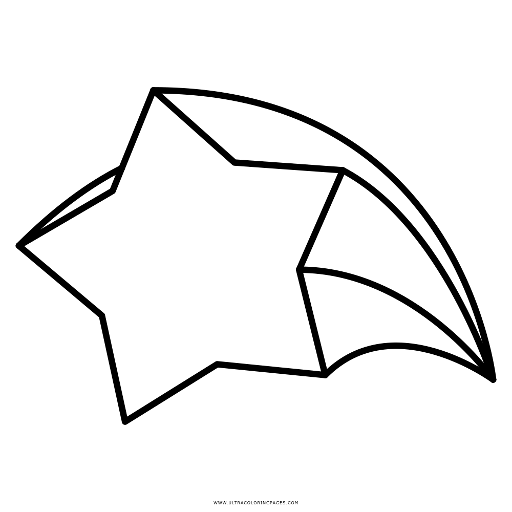 Estrela Cadente Desenho Para Colorir