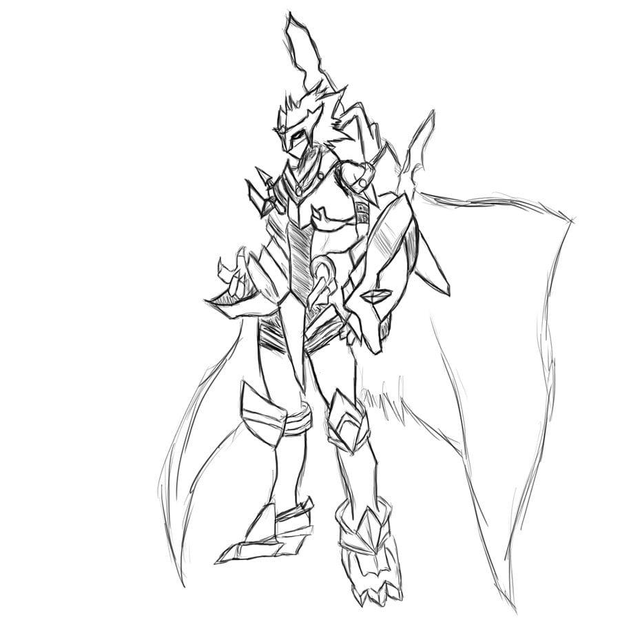 Fallen Knight Digimon By Nickrcward On Deviantart